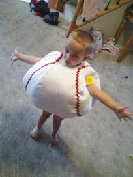 Toddler Baseball Halloween Costume Children U0027s Handmade Fun Baseball Ball Memoriesmadebyrose