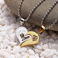 love you gold necklace images Necklace i love you couple love hearts gold silver jpg