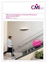 level7 strategic management and leadership 2013 syllabus v01
