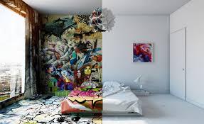 chambre d hotel lyon pavel vetrov mélange le graffiti et le contemporain dans une chambre