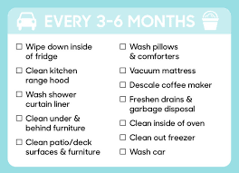 things you need for house here s a guide to how often you need to clean everything in your