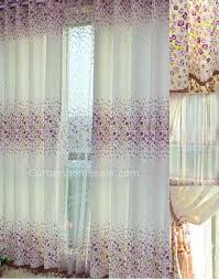 arts and crafts style curtains of blending material mixed