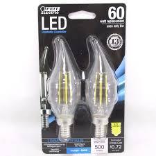 6 watt led light bulb price feit electric bpcfc60850led2 chandelier flame tip led light bulb 6