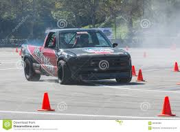 rallycross truck modified pickup truck in autocross editorial stock photo image