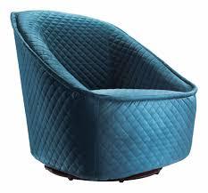 Fabric Swivel Chairs by Pug Swivel Chair Aquamarine By Zuo Modern