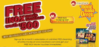buy the mavshack monthly subscription for inr 250 u0026 get 2 inox