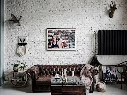 Floral Interiors Unconventional Scandi Home Tour With Floral Wallpaper And Bricks