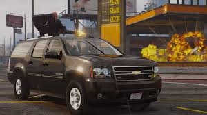 chevy suburban chevrolet suburban with pop out gatling gun wipers gta5 mods com