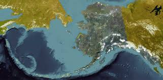 A Map Of Alaska by New Alaska Satellite Image Map Released Uaf News And Information