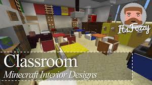 Minecraft Interior Design by Minecraft Interior Design Classroom Youtube