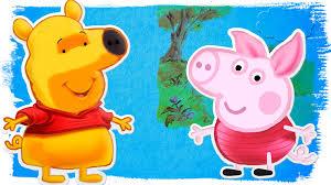 peppa pig winnie the pooh coloring pages coloring book u0026 rhymes