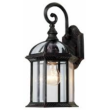 outside light fixtures lowes portfolio 15 1 2 in outdoor wall mounted light lowe s canada