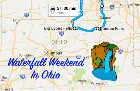 Ohio Waterfalls Map by The Perfect Ohio Waterfall Weekend Itinerary