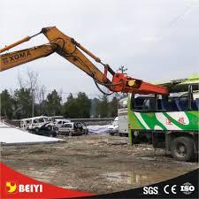Machine Downtime Spreadsheet Excavator Hydraulic Demolition Shear Used For Cutting Scrap Car