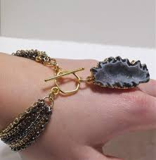 Geode Engagement Ring Box Handmade Raw Mineral Jewelry Geode Bracelet By Pauletta Brooks