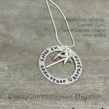 godmother necklace fairy godmother necklace with wand sted jewelry