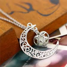 in the dark halloween necklace with silver plated pendant