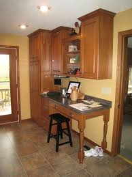 kitchen desk design office u0026 bar mainstream cabinets custom cabinetry company
