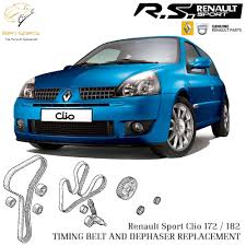 renault clio sport 2004 renault clio sport 172 182 cambelt dephaser replacement service