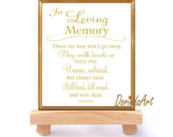 in loving memory wedding wedding memorial table in loving memory printable by dorindaart