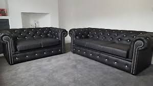 Black Leather Chesterfield Sofa Black Leather Chesterfield Sofa With Diamonds Any Colour Read