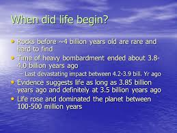 the origin and evolution of on earth when did begin