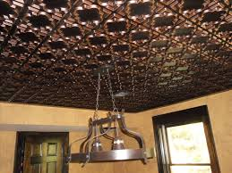 Tin Ceiling Lights Decor Faux Tin Ceiling Tiles Design With Industrial Pendant