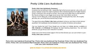 pretty liars audiobook mp3 trial audiobook mp3 pre