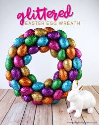 how to make an easter egg wreath diy glittered easter egg wreath artsy fartsy
