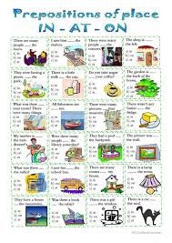 8 best prepositions of place esl english worksheets images on