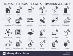smart home automation vector icon set in flat design stock vector