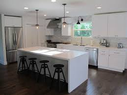 built in kitchen islands with seating kitchen room 2017 unique curved shape white and black colors