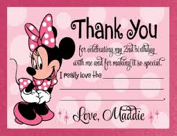 minnie mouse thank you cards retro pink minnie mouse thank you card di 217ty custom