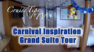 carnival paradise floor plan cruise tips tv carnival inspiration grand suite tour u79 youtube