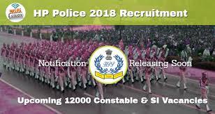 ap hp si e hp 2018 recruitment notification 12000 constable si posts