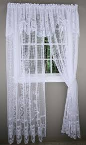 Lace Valance Curtains Maragret Lace Curtain Panels With Attached Valance Discount Lace