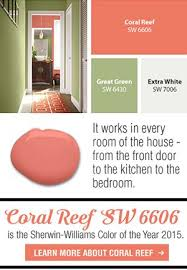 sherwin williams coral reef it u0027s a perfect coral shade in my