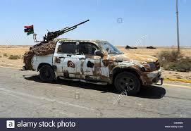 a free libyan army pickup truck with a zpu 1 anti aircraft gun