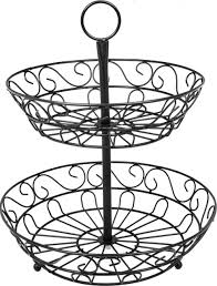 fruit basket stand sorbus 2 tier countertop fruit basket holder