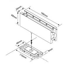 patch fitting glass door closing glass door kit with hydraulic patch fitting