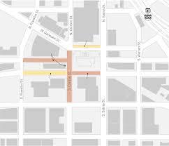 Destiny Usa Map Street Closing Map For Syracuse U0027s Irish Festival Syracuse Com