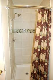 Nickel And Bronze Decorative Curtain by Shower Curtains Curved Shower Curtain Rod Bathroom Ideas 36