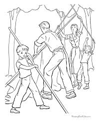 camping coloring pictures 003