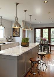 Industrial Kitchen Lighting Pendants Lighting Recessed Lighting Design With White Ceiling And