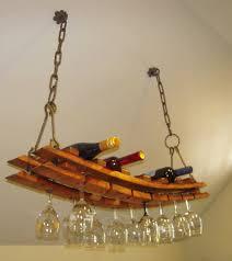 unique wine bottles cork to barrel hanging wine bottle glass rack