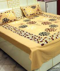 Buy Double Bed Sheets Online India Mim Casement Beige Printed Double Bed Sheet Buy Mim Casement
