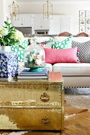 brass trunk coffee table 2017 spring home tour trunk coffee tables dimples and neutral