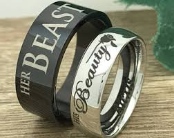 his and hers ring set ring set etsy