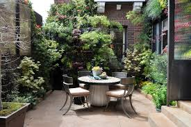 Potted Plant Ideas For Patio by Paved Courtyard Garden Ideas Patio Contemporary With Living Wall