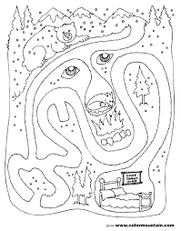 bear maze activity color page create a printout or activity